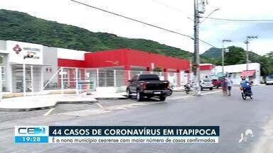 Itapipoca é o nono município cearense com maior número de casos confirmados - Confira mais notícias em g1.globo.com/ce