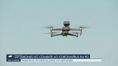 Drones com alto falantes ajudam no combate ao coronavírus em Praia Grande - Equipamentos vão sobrevoar pontos com aglomeração e também dão orientação para moradores por meio de alto falantes.