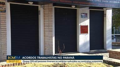 Empresas adotam nova MP para garantir empregos no Paraná - Quase 190 mil pessoas tiveram os salários reduzidos ou contratos suspensos.