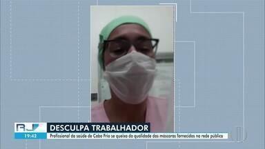 Profissionais de saúde de Cabo Frio, RJ, reclamam da falta de EPIs - Profissionais também apontam problemas estruturais no Hospital São José Operário.