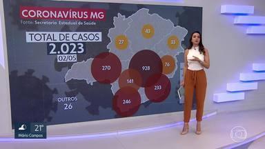 Minas Gerais tem mais de 2000 casos confirmados de Covid-19, BH lidera a lista - Na Zona da Mata, Juiz de Fora é a cidade com o segundo maior número de casos.