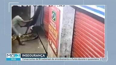 Insegurança no Santa Tereza, em BH - Comerciantes reclamam de arrombamentos e furtos durante a quarentena.