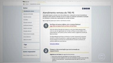 TRE em Pernambuco atende remotamente eleitores para resolver pendências com título - Biometria ficou para quando atendimentos presenciais retornarem.