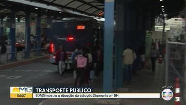 BDMG mostra situação da estação Diamante em BH - Equipe foi conferir se medidas para evitar aglomerações estão sendo respeitadas.