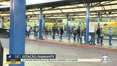 Coronavírus: BDMG mostra movimento em estação de ônibus em BH - A estação Diamante é um das movimentadas da capital.