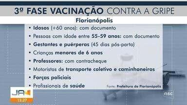 Começa nova etapa de vacinação contra gripe em Florianópolis nesta segunda-feira - Começa nova etapa de vacinação contra gripe em Florianópolis nesta segunda-feira