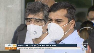 Ministro da Saúde visita Manaus - Ministro fala sobre otimização do sistema de saúde no estado.