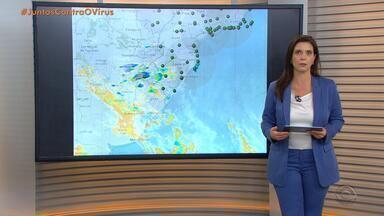 Chuva inicia no Oeste e avança pelo RS nesta segunda-feira (4) - Alerta é para raios e ventos fortes no Estado.