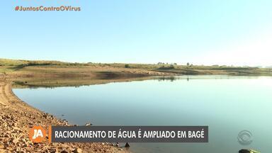 Bagé amplia racionamento de água devido à estiagem - Barragens da cidade estão abaixo do nível normal.
