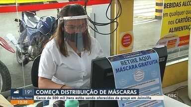 Começa distribuição de máscaras gratuitas em Joinville - Começa distribuição de máscaras gratuitas em Joinville