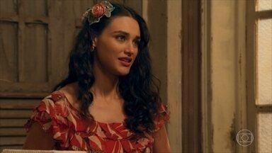 Filomena revela a Pancrácio que trabalha como dançarina - Candinho e Filomena conversam e ele a convida para dormir em sua casa já que ela foi deixada na rua por Ernesto