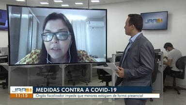 Órgão fiscalizador impede que menores estagiem de forma presencial durante a pandemia - A Auditora fiscal do trabalho, Thays Castilho,orienta que sobre as medidas que asseguram estagiários.