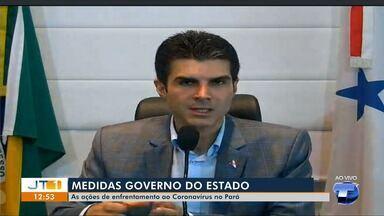 Governador Helder Barbalho anuncia medidas de enfrentamento ao coronavírus no PA - 10 respiradores foram encaminhados para o Hospital de Campanha em Santarém.
