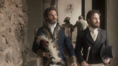 Avilez e Thomas pensam na volta de Pedro a Portugal - Thomas afirma que seu único interesse por coroas são as de ouro