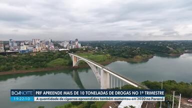 PRF apreende mais de 10 toneladas de drogas no primeiro trimestre - A quantidade de cigarros apreendidos também aumentou em 2020 no Paraná.