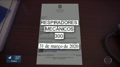 Governo do estado compra mais de 700 respiradores e equipamentos não chegam - RJ2 apurou que um dos fornecedores é uma microempresa do ramo de material de alimentação e de escritório. Governo encontra problemas no contrato.