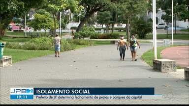 Prefeitura de João Pessoa decreta fechamento de praias e parques municipais - Novo decreto foi publicado nesta segunda-feira (4) e vale até o dia 18 de maio.
