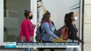 SP2 - Edição de segunda-feira, 04/05/2020 - Uso de máscara será obrigatório em São Paulo. Capital reforça medidas de isolamento social. Testes para covid-19 aguardam registro. Cidade de São Paulo pode requisitar leitos privados. Oito policias presos presos por morte de rapaz.