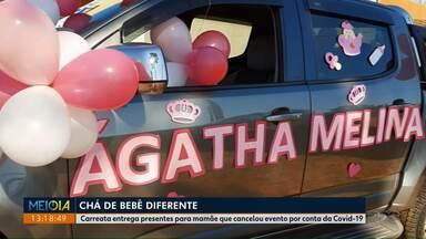 Em tempos de pandemia o chá de bebê foi diferente em Guarapuava - Carreata entrega presentes para mamãe que cancelou evento por conta da Covid-19