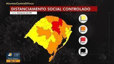 Expectativa é que Governo do RS apresente até quinta novo modelo de distanciamento social - Estado está dividido em regiões de acordo com a capacidade de leitos e número de casos de coronavírus.