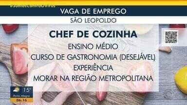 Empresa de São Leopoldo tem oportunidade para chef de cozinha - Acesse o g1.com.br/rs e veja os detalhes.