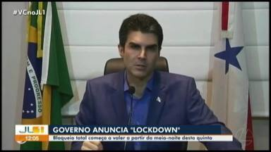 Governo do Pará anuncia 'lockdown' em dez municípios; serviços essenciais continuam - Governo do Pará anuncia 'lockdown' em dez municípios; serviços essenciais continuam