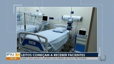 Novos leitos de UTI para pacientes com coronavírus são instalados em Dracena - Santa Casa de Misericórdio local assinou convênio com cidades da Nova Alta Paulista.