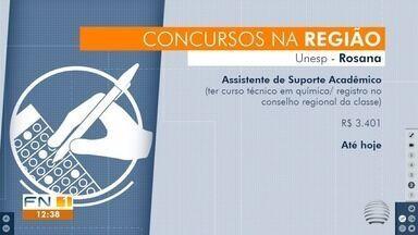 Concurso público e processo seletivo têm remuneração de até R$ 3,7 mil em Panorama - Oportunidades também estão disponíveis nas cidades de Alfredo Marcondes e Rosana. Inscrições devem ser feitas pela internet.