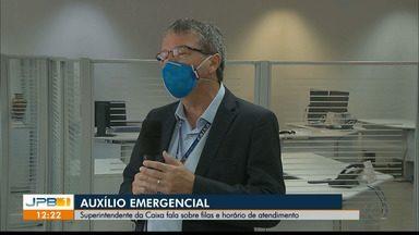 Superintendente da Caixa na Paraíba tira dúvidas sobre filas e horário de funcionamento - Auxílio emergencial do Governo Federal está sendo emitido pelo banco.