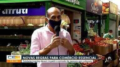 Veja as novas regras para o comércio essencial no Ceará - Saiba mais em g1.com.br/ce