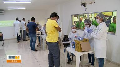 Rodoviários são vacinados contra a Influenza - Rodoviários são vacinados contra a Influenza.