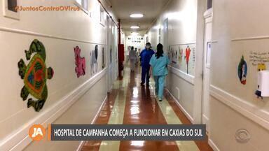 Caxias do Sul inaugura hospital de campanha com 54 leitos para pacientes com coronavírus - Unidades de UTI's precisam ser habilitados pelo Ministério da Saúde.