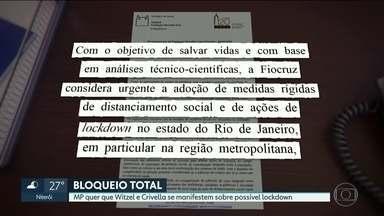 Fiocruz recomenda ações de 'lockdown' no Estado do RJ - Segundo os pesquisadores, sem o bloqueio, pode ocorrer um período prolongado de escassez de leitos e insumos, com sofrimento e morte para milhares de cidadãos.