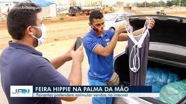 Vendedores da Feira Hippie apostam na internet para estimular vendas em Goiânia - Feira foi proibida de acontecer devido a pandemia de coronavírus.