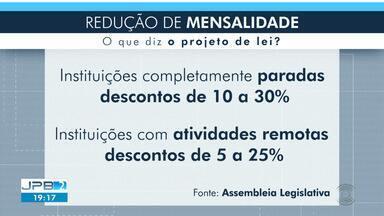 Projeto prevê redução nas mensalidades de escolas e instituições privadas - Medida foi aprovada por Deputados.