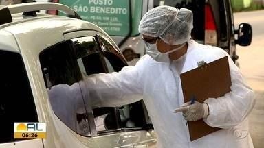 Autoridades de saúde e PM continuam com fiscalização nas divisas de Alagoas - Verificam o estado de saúde de quem chega com o objetivo de identificar possíveis casos de Covid-19.