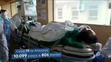 Pacientes que poderiam sobreviver se tivessem acesso a um respirador morrem no Amazonas - Estado tem sete leitos de UTI para cada 100 mil habitantes. Essa taxa é um quarto da registrada no Distrito Federal, por exemplo.
