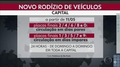Rodízio será ampliado a partir de segunda-feira - Prefeitura publica decreto e define quem está isento da nova medida.