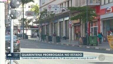 Governo de SP prorroga quarentena até 31 de maio e mantém comércio fechado - Medida repercutiu entre moradores e entidades ligadas ao comércio.