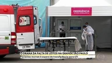 Pacientes com suspeita de Covid-19 morrem à espera de transferência para UTI - Pacientes com suspeita de Covid-19 de Embu das Artes e Embu-Guaçu morrem à espera de leitos de UTI.