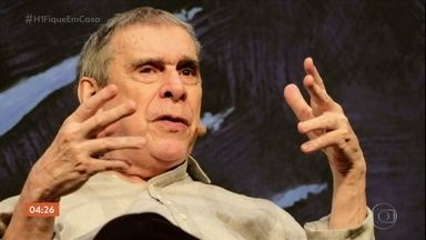 Morre o escritor Sérgio Sant'Anna - Ele pegou o novo coronavírus e estava internado havia uma semana. Com mais de cinco décadas de carreira, ele era um dos maiores autores brasileiros e tinha na experimentação literária uma de suas marcas. O escritor estava internado em um hospital no Rio.
