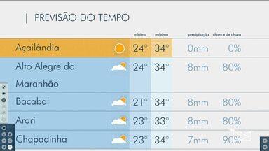Veja as variações das temperaturas no Maranhão - Confira a previsão do tempo nesta segunda-feira (11) em São Luís e também no interior do estado.