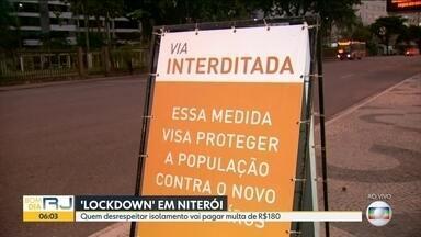 Lockdowm em Niterói - Cidade de Niterói tem várias medidas para intensificar as medidas de isolamento. Multas estão previstas para empresas e cidadãos que desrespeitarem as restrições ao comércio e a circulação de pessoas