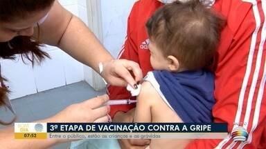 Terceira etapa da vacinação contra a gripe começa nesta segunda-feira - Entre o público, estão as crianças e as grávidas.