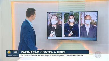 Em Campo Grande terceira etapa da vacinação contra a gripe começa hoje - Em Campo Grande terceira etapa da vacinação contra a gripe começa hoje