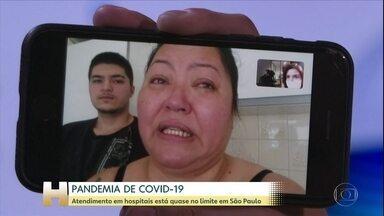 Coronavírus: Atendimento em hospitais de São Paulo está quase no limite - A situação dos hospitais na Região Metropolitana de São Paulo é muito grave. Segundo o governo paulista, 9 em cada 10 leitos de UTI para Covid-19 estão ocupados.