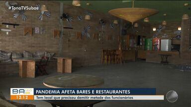 Veja como a restrição de funcionamento do comércio tem afetado setor de bares e festas - Confira.
