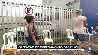 46 agências da Caixa em Salvador passam por operação especial para evitar aglomerações - Nesta segunda-feira (11), as filas foram mais organizadas na capital baiana.