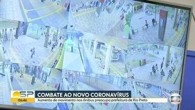 Combate ao novo coronavírus no interior - Aumento da movimentação nos ônibus preocupa prefeitura de São José do Rio Preto.