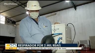 Engenheiro cria respirador a baixo preço de custo em Jataí - Ele contou que tem sofrido com a burocracia para aprovar o projeto.